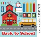 back to school card design.... | Shutterstock .eps vector #150382499