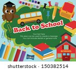 back to school card design.... | Shutterstock .eps vector #150382514