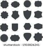 set of 16 shapes badges for any ... | Shutterstock .eps vector #1503826241