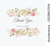 beautiful hand drawn soft roses ... | Shutterstock .eps vector #1503842504