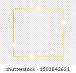 gold shiny glowing frame with... | Shutterstock .eps vector #1503842621