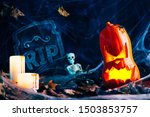 halloween decor  jack's lantern ... | Shutterstock . vector #1503853757