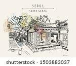 seoul  south korea. hanok...   Shutterstock .eps vector #1503883037