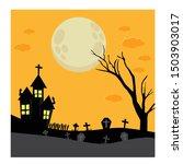 halloween night background.... | Shutterstock .eps vector #1503903017