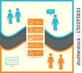 Bridge the Gap Infographics. Vector EPS 10