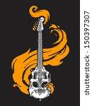 burning skull shaped electric... | Shutterstock .eps vector #150397307