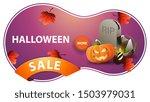 halloween sale  pink discount... | Shutterstock .eps vector #1503979031