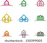 Design vector home logo template. Colorful icon set. You can use in the buildings, awards, apartments and other organization concept of pattern.