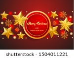merry christmas and happy new... | Shutterstock .eps vector #1504011221