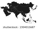 asia map with boundaries vector ... | Shutterstock .eps vector #1504013687