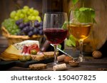 wine and cheese   Shutterstock . vector #150407825