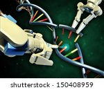 two robotic arms modifying a... | Shutterstock . vector #150408959