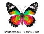 beautiful butterfly. | Shutterstock . vector #150413405