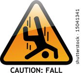 vector of alert sign 35 fall