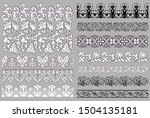 set of 11 vector seamless... | Shutterstock .eps vector #1504135181