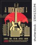 rock night poster flyer... | Shutterstock .eps vector #1504152194