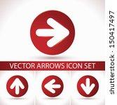 arrow sign icon set. 3d circle...