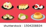 traditional japanese desserts ... | Shutterstock .eps vector #1504208834