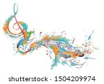 Abstract Musical Design With A...