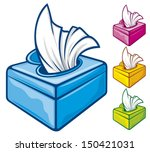 tissue boxes  wipes   | Shutterstock .eps vector #150421031