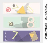 abstract paper cut layout top... | Shutterstock .eps vector #1504226357