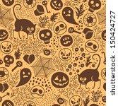 happy halloween  seamless...   Shutterstock .eps vector #150424727