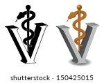 veterinary symbol caduceus jpg | Shutterstock . vector #150425015