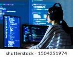 software developer freelancer... | Shutterstock . vector #1504251974