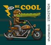 cartoon crocodile character...   Shutterstock .eps vector #1504257824