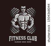 logo vector template of gym...   Shutterstock .eps vector #1504368044