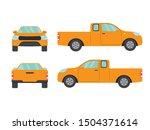set of orange pickup truck on... | Shutterstock .eps vector #1504371614