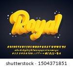 modern trendy 3d alphabet design | Shutterstock .eps vector #1504371851