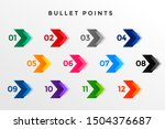 direction number bullet points... | Shutterstock .eps vector #1504376687