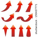 type of various red arrow sign... | Shutterstock .eps vector #150437771