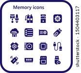 memory icon set. 16 filled... | Shutterstock .eps vector #1504403117
