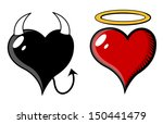 devil and angel heart   vector... | Shutterstock .eps vector #150441479
