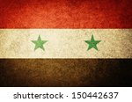 grunge flag of syria | Shutterstock . vector #150442637