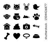 pet solid icons vector design | Shutterstock .eps vector #1504426877