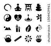 zen solid icons vector design   Shutterstock .eps vector #1504429961