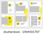minimal layout design... | Shutterstock .eps vector #1504431707