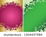 red and green backgrounds a4... | Shutterstock .eps vector #1504457984