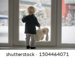 Toddler Child Standing In Fron...