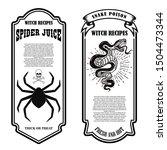halloween poison label. spider...   Shutterstock .eps vector #1504473344