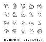 minimal thin line pet icon set  ...