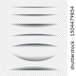 paper shadow effect. set of...   Shutterstock .eps vector #1504479854