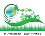 ecology connection  concept...   Shutterstock .eps vector #1504499561
