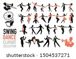 swing dance clipart collection. ... | Shutterstock .eps vector #1504537271