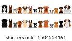 large dogs border set  upper...   Shutterstock .eps vector #1504554161
