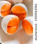 flavored boiled duck egg yolk    Shutterstock . vector #1504563581