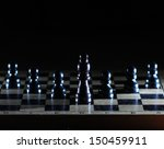 composition with chessmen on... | Shutterstock . vector #150459911